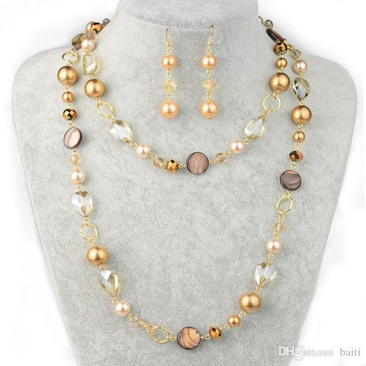 Eleganti Placcato Oro Multi Colore Simulare Perle Collegati Con La Shell Di Cristallo Donne Moda A Lungo Collane Set Europa E In America Fashion Jewe All'ingrosso Da Baiti, $10.24 Su It.Dhgate.Com | Dhgate