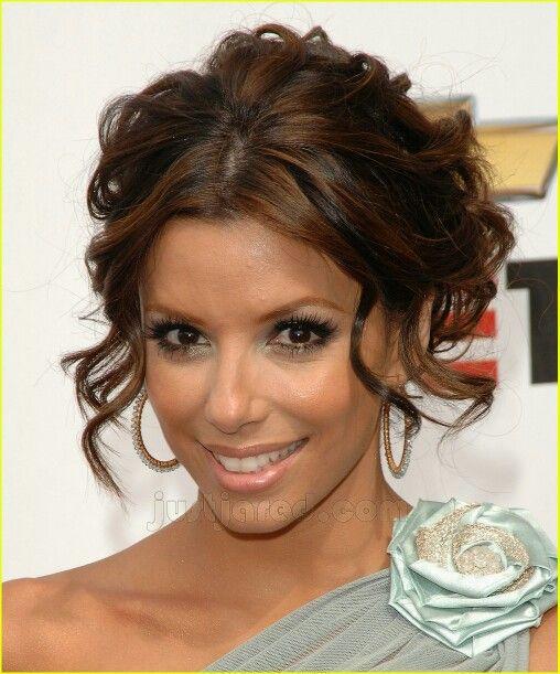 Eva Longoria Wedding Hair Style: Gorgeous Loose Curly Upstyle