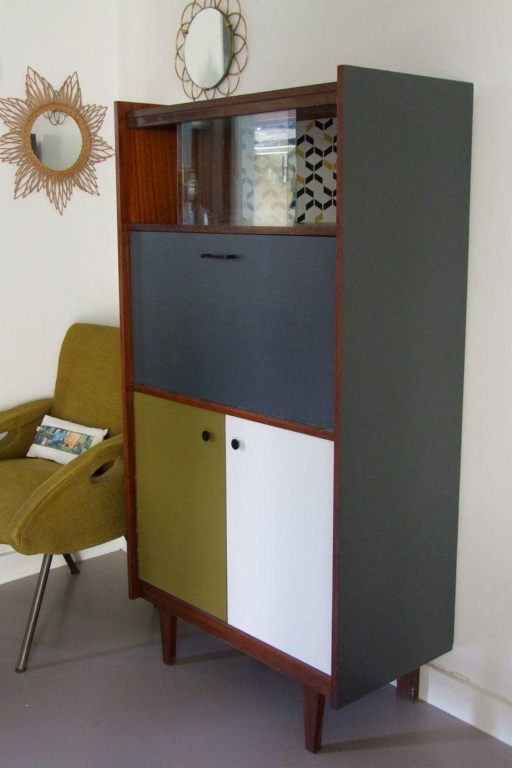 les 11 meilleures images du tableau meubles vintage repeint sur pinterest meuble vintage. Black Bedroom Furniture Sets. Home Design Ideas