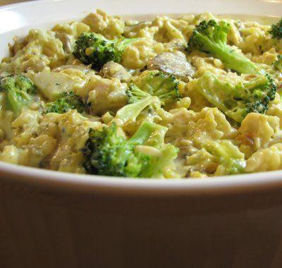 Chicken, Mushroom, Broccoli and Rice Casserole