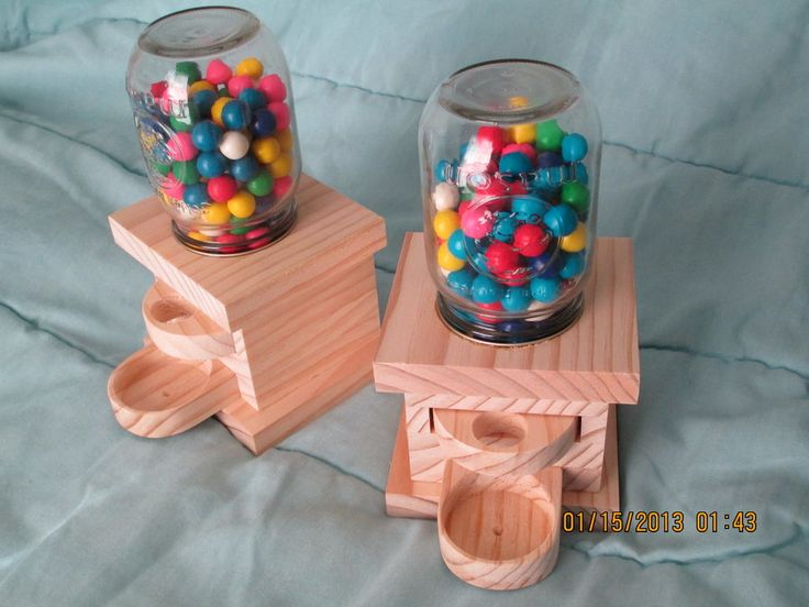 Candy machines! Love | Project ideas | Gumball machine, Woodworking, Projects
