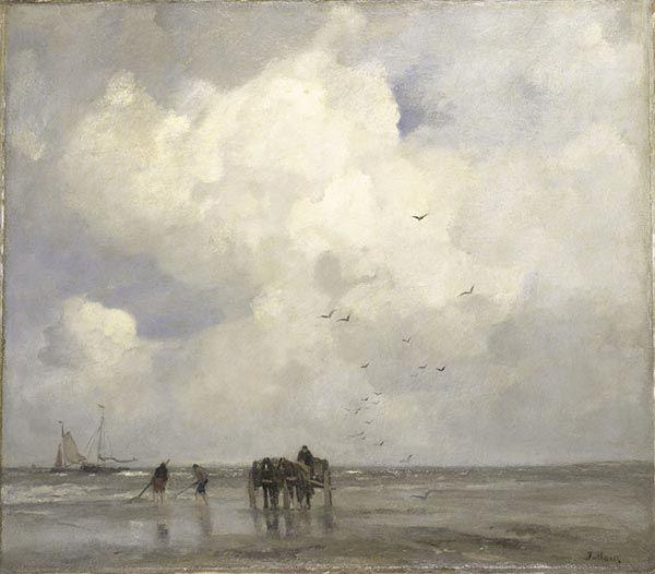 Jacob MARIS (Nederlands kunstenaar, 1837-1899): Shelpenvissen, 1885