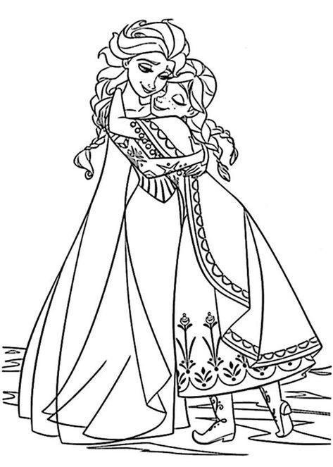 Ausmalbilder Eiskönigin Gratis Malvorlagen Coloring Color