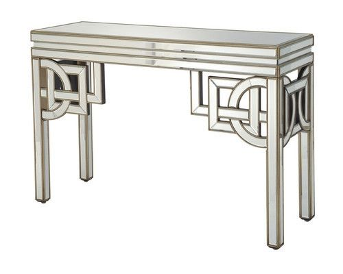 Art Deco Mirrored Console Table with Aztec influences