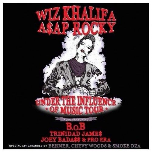 ASAP Rocky to tour with Joey Bada$$, Wiz Khalifa, and more