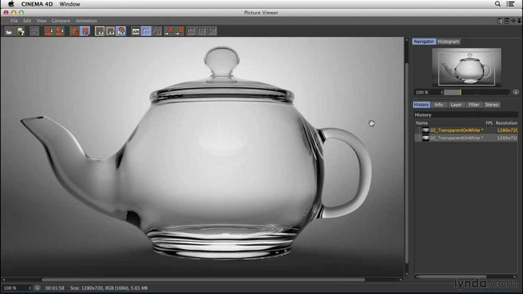 CINEMA 4D lighting tutorial: Shooting glass on a light background