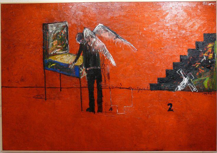 aatoth franyo: A második angyal (flipper)/The Second Angel (Flipper) - 2009 - 91x133cm - olaj, vászon/oil on canvas