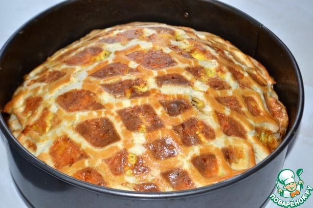 """Луковый пирог """"Чипполино"""". Дивная сырно-сметанная заливка и хрустящее слоеное тесто!"""