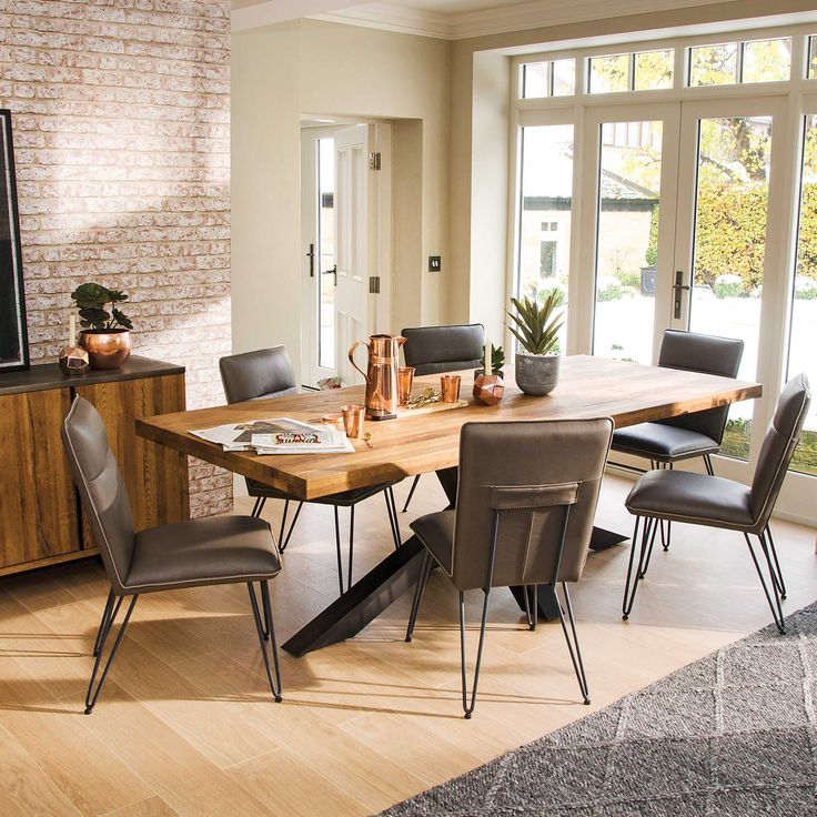 Create A Stunning Focal Point In Your Dining Room With The Navarro Star Table And Bron Chairs