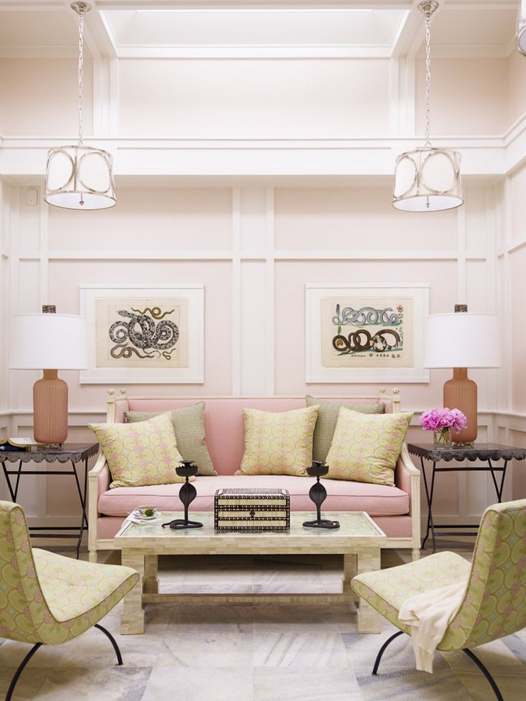 389 best images about pink living rooms on pinterest for Green and pink living room ideas