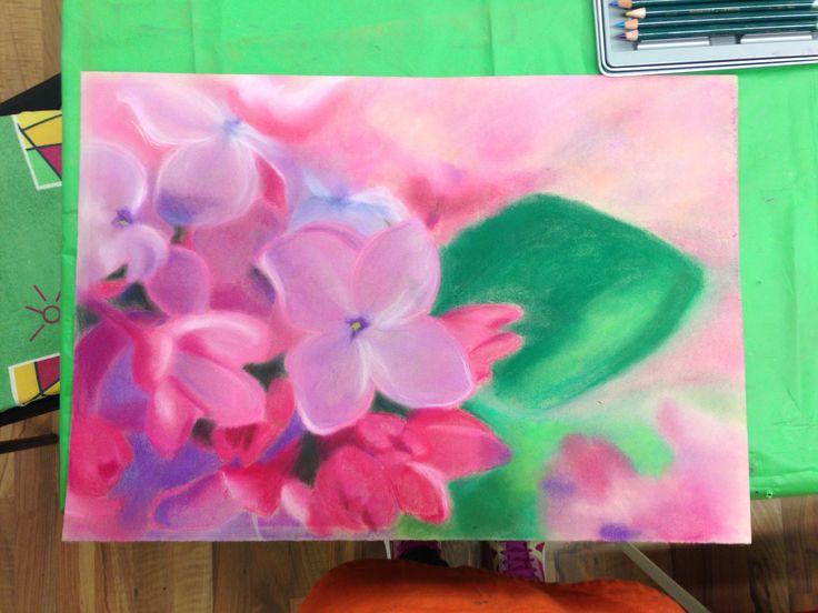 ružová záplava #pastel #painting #flowers #pink