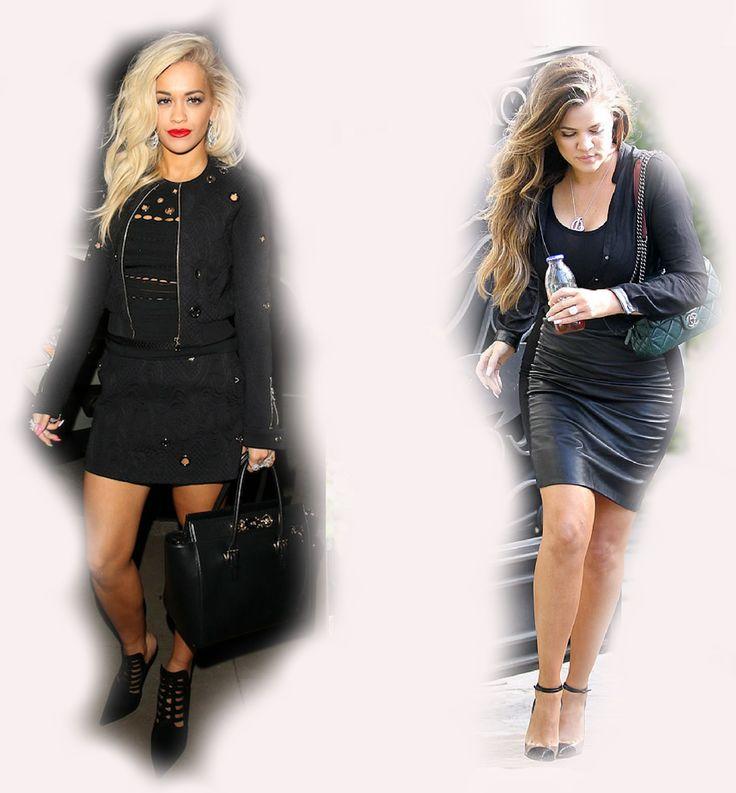 black outfit, Rita Ora VS Khloe Kardashian Odom fashion diva who-wore-it-better celeb celebrity