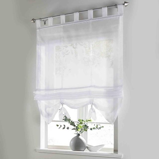 Fl Printing Sheer Window Curtain