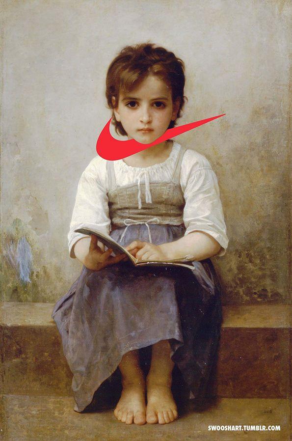 Swoosh Art by Davide Bedoni Modernizes Vintage Artworks #logos trendhunter.com
