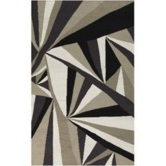 Malene B by Surya Voyages VOY-54 Flatweave Hand Woven 100% Wool Pussywillow Gray 8' x 11' Geometric Area Rug>3219.99