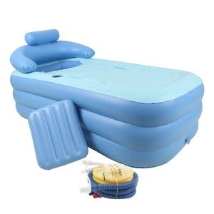 Cool Gadgets – Inflatable Bath Tub Use it for the elderly or injured that cannot walk to the bathroom for a bath. Great for camping. Athletes can use it to take an ice bath. Ice baths are rejuvenating and help athletes recover and ease tired aching muscles after a long or tedious workout.