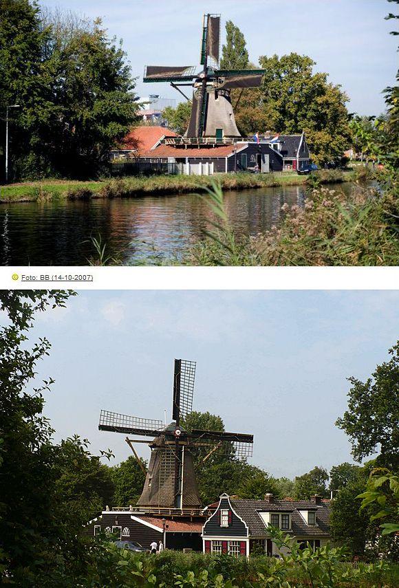 Chalk mill D'Admiraal, Amsterdam-Buiksloot, the Netherlands.
