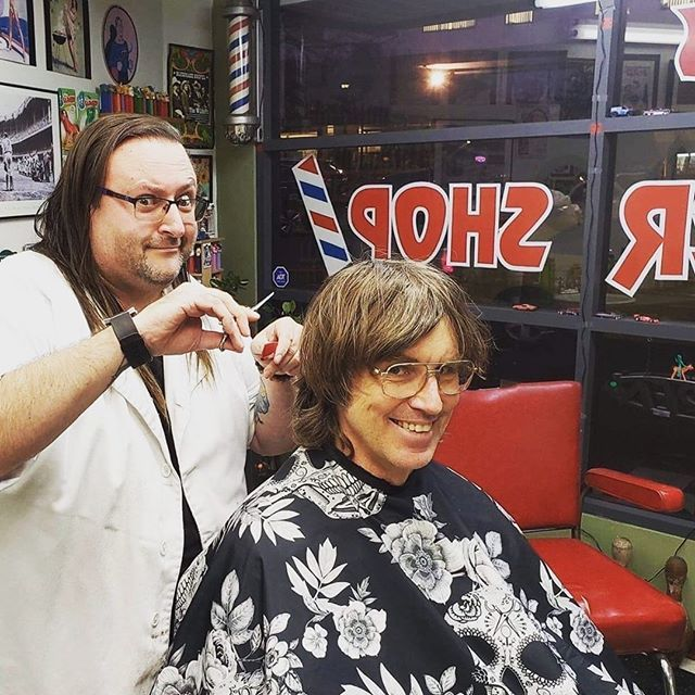 Tune In Tonight Repost From Thatbarberdave Chris Murphy Of Sloan Stopped In Yesterday I Interviewed Him For In The Red You Interview Nanaimo Barber Life