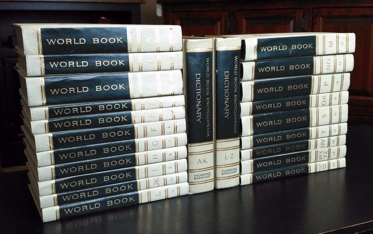 Green Encyclopedia Set World Book W/ Dictionary and Study Guide 1963 22 Vol.