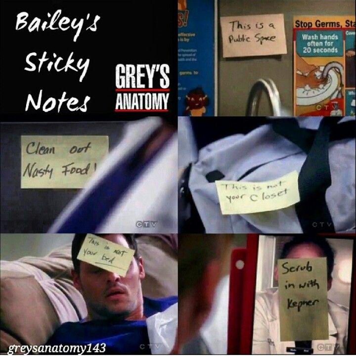 Miranda Bailey's sticky notes :)