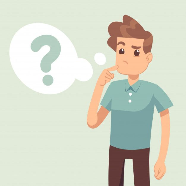 Cartoon Thinking Man With Question Mark In Think Bubble Thinking Man Illustration Character Design This Or That Questions