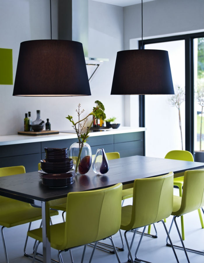 Add a little touch of green to your kitchen or dining room with these BERNHARD chairs.