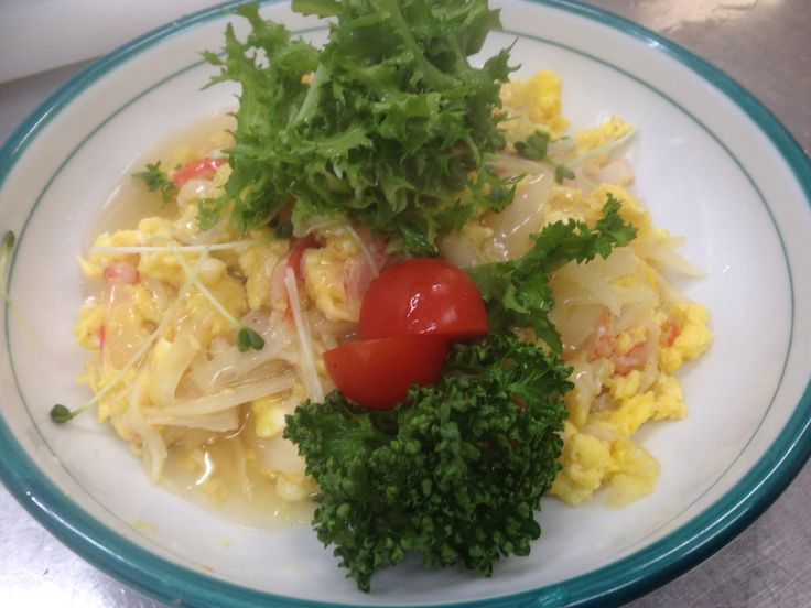 Scrambled eggs with sweet soy source