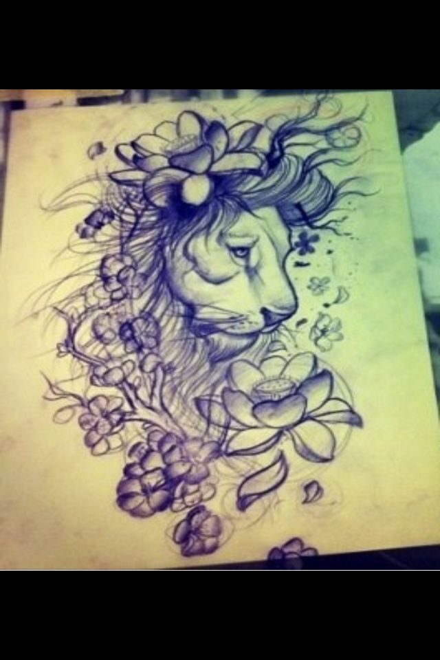 My loves lions. Maybe I can make the flowers her birth flowers!! Ideas!!