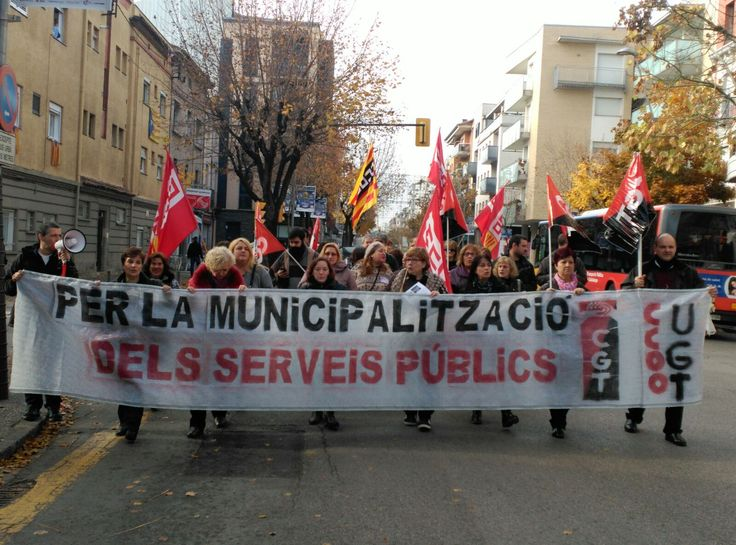Treballadors de l'empresa de RSU Girona +Neta