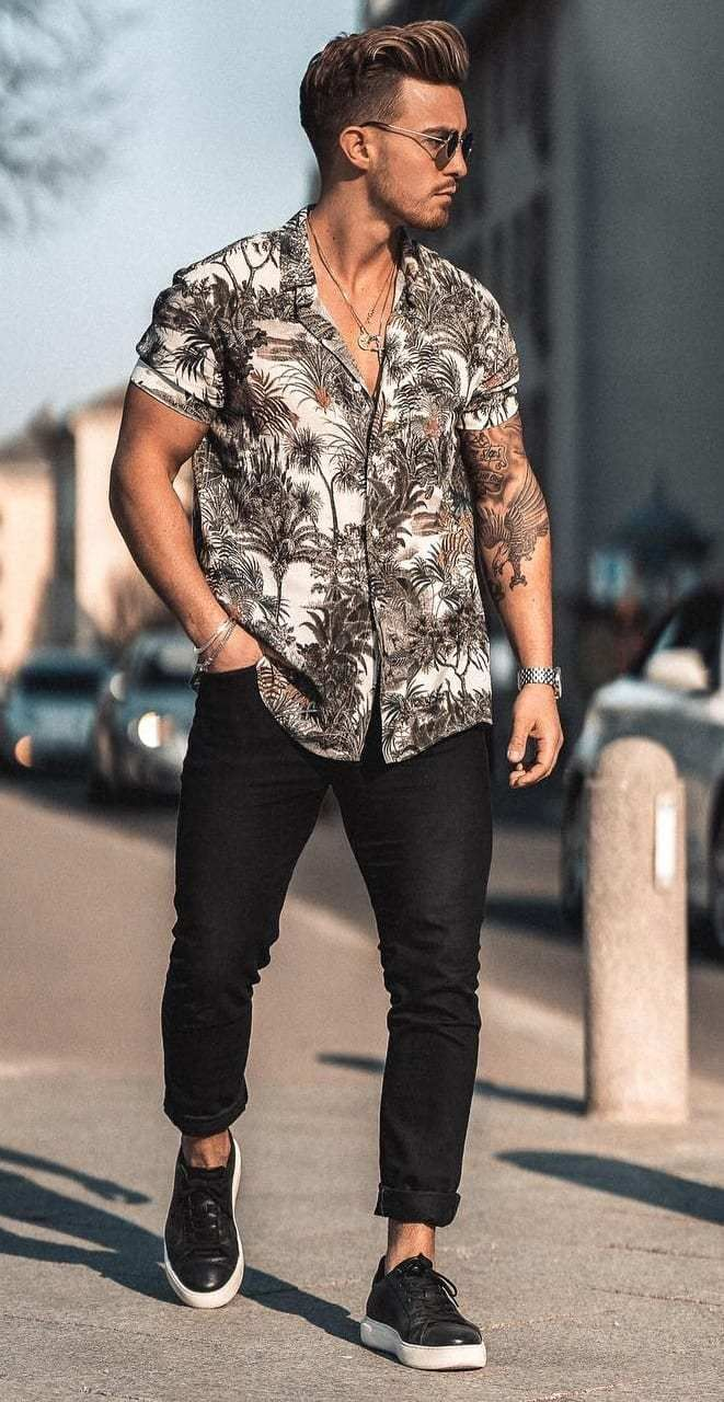10 Floral Shirts To Up Your Next Summer Style Look Fashion Suits For Men Mens Casual Outfits Summer Mens Outfit Inspiration [ 1280 x 661 Pixel ]