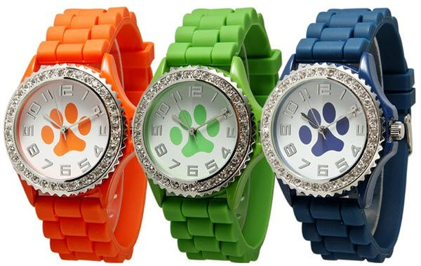 These Paw Print Watches are totally adorable! What a cute gift idea for a favorite vet tech, groomer, pet sitter, etc!