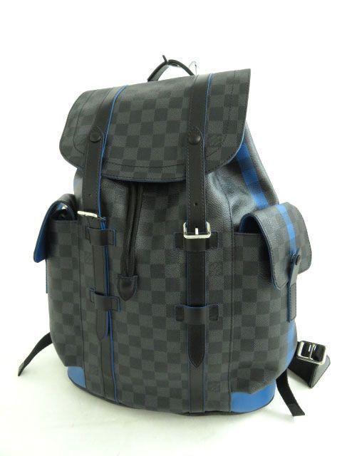 f3dff8af5af8 eBay  Sponsored Louis Vuitton N42422 Backpack Christopher PM Blue Damier  Graphite NOS Mint  1329