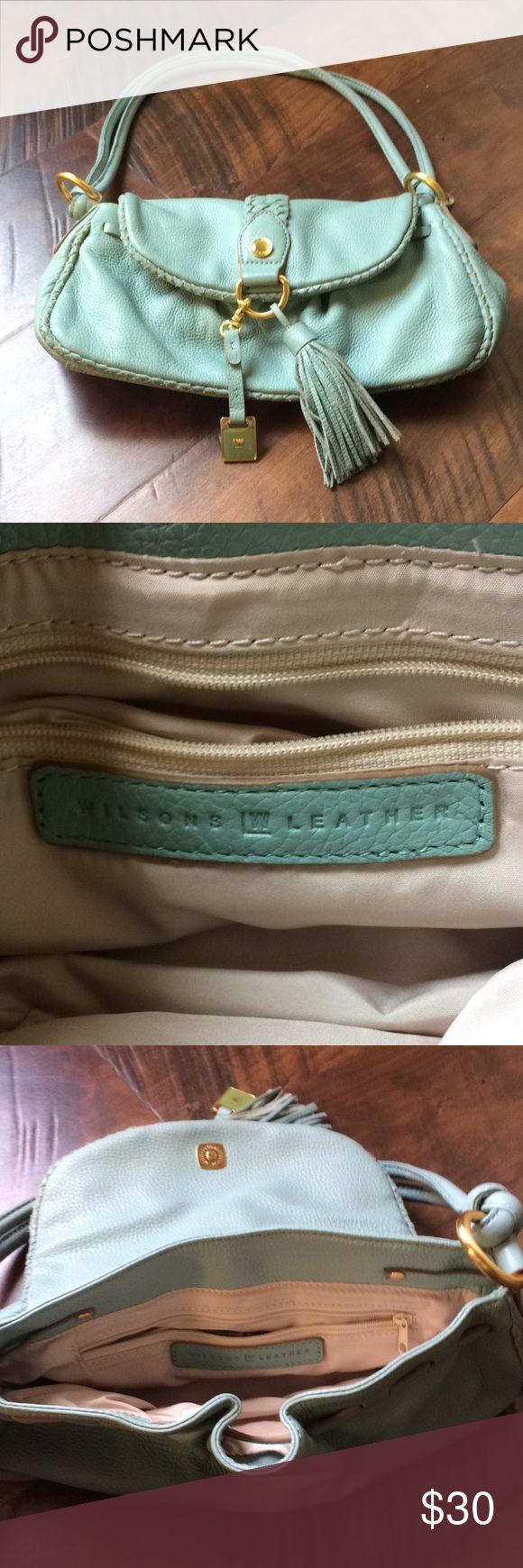 Wilson Leather light teal handbag Beautiful, Wilson