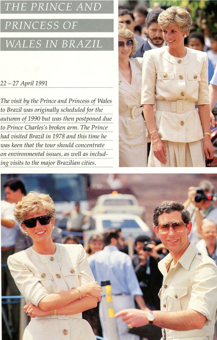 April 23, 1991: Prince Charles & Princess Diana in Carajas, Brazil, during a royal tour