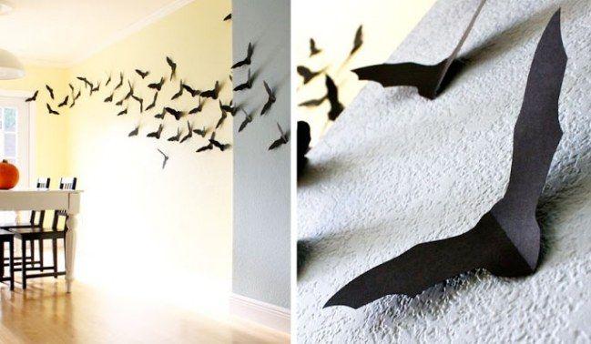 Fledermäuse als 3D-Deko