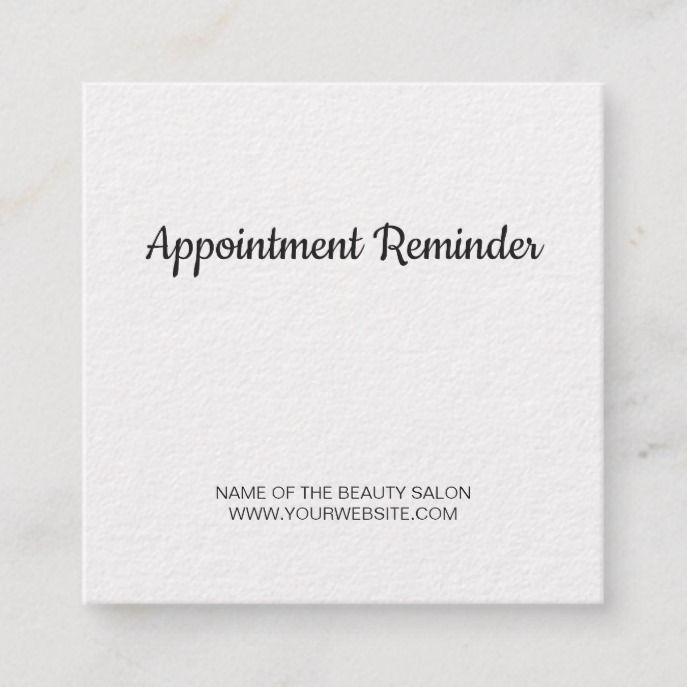 Minimalist Elegant White Beauty Appointment Custom Square Business