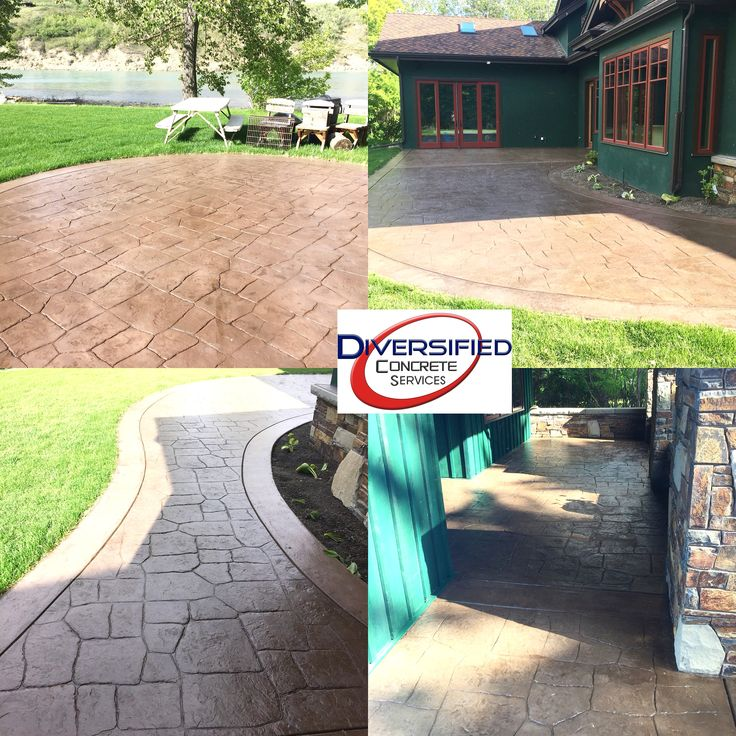 Fresh coat of Unisheen sealer over this stamped concrete. This area was flooded a little bit back in 2013 when Calgary had the huge flood. #diversifiedconcreteservices #yyc #stampedconcrete #sealer #spring