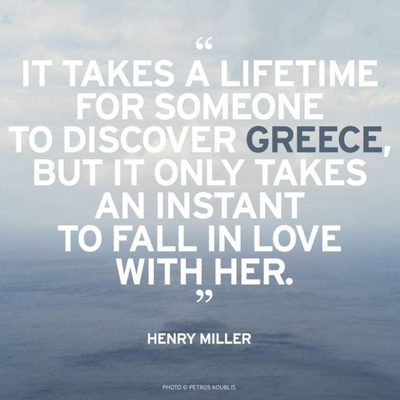 It only takes an instant to fall in love with Greece!