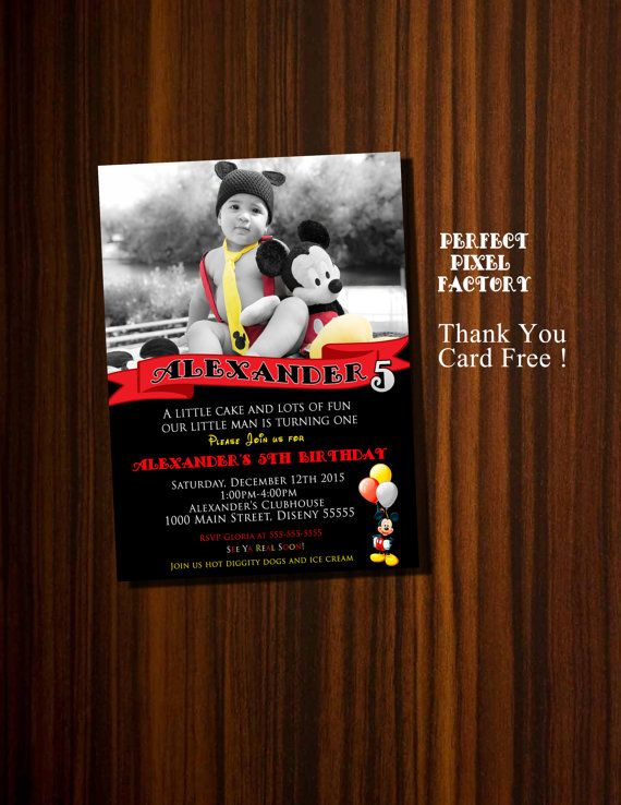 Mickey Mouse InvitationMickey Mouse Photo by PerfectPixelFactory