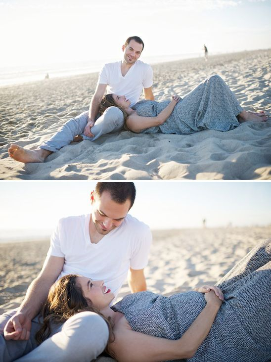 Newport Beach Couple Maternity Session