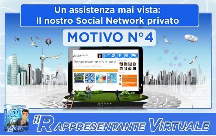 Motivo N. 4: Un'assistenza mai vista! Il nostro Social Network privato..