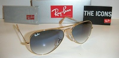 Ray-Ban Aviator Sunglasses/SonnenBrille Gold and Dark Purple Model Best