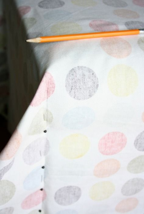 easy ottoman slipcover from one square of fabric