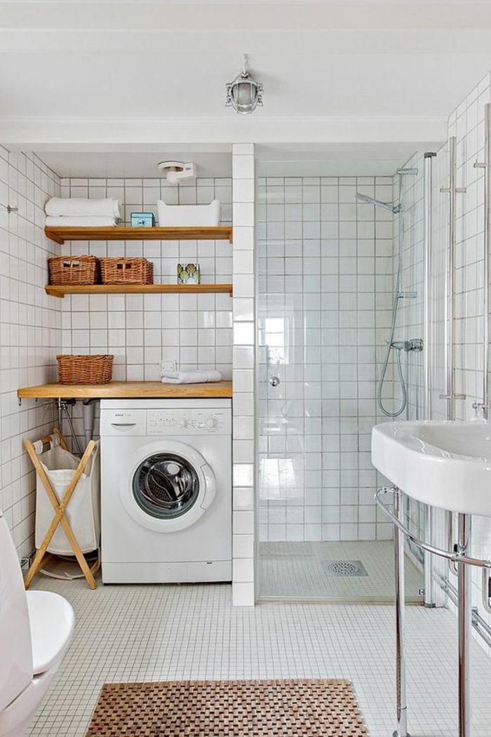 Badezimmer 6m2  das Layout und die Dekoration zu