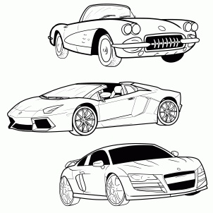 Step by step instructions for drawing sports cars