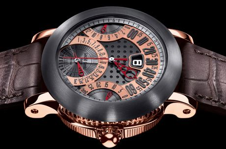 Gerald Genta Arena Watches in Red Gold Watches Channel
