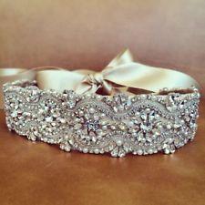 Crystal sashes for wedding, Wedding Bridal Belt, Braided Rhinestone Sash-Ivory