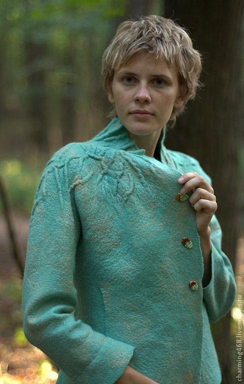 """Пиджаки, жакеты ручной работы. Ярмарка Мастеров - ручная работа """"Мятный"""" Жакет. Handmade."""