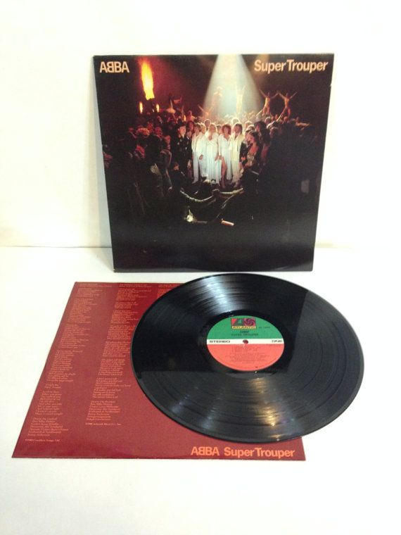 ABBA Super Trouper Vinyl 33 LP Record Album 1980 Atlantic Recording Corp SD 16023 Recorded and Mixed At Polar Music Studios, Stockholm by NostalgiaRocks