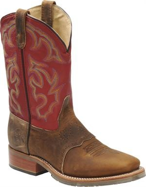 Men's Double H Boot Wide Square Work Roper Old Town - Light Brown/Red